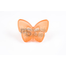 Buton plastic Fluture Orange