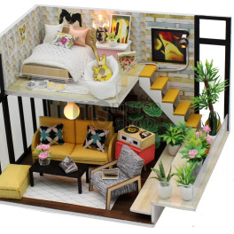 Casa in miniatura Yellow - montare manuala prin lipire