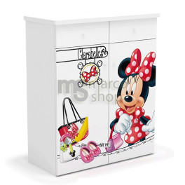 Comoda copii 2 usi 2 sertare Shopping Minnie