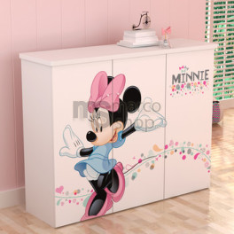 Comoda copii 3 usi Minnie Mouse